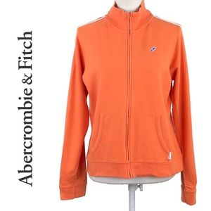 ABERCROMBIE & FITCH | Striped Orange Track Jacket
